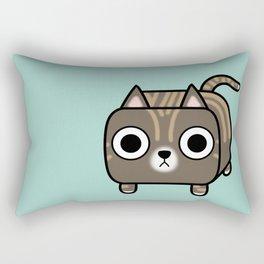 Cat Loaf - Brown Tabby Kitty Rectangular Pillow