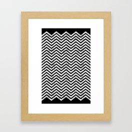 Black Lodge Zig Zag (Distressed) Framed Art Print