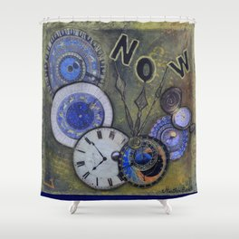 The Time is Always Now (or 11:11) Shower Curtain