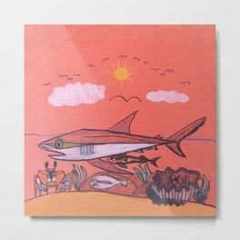 Galopagos Shark & Friends Metal Print