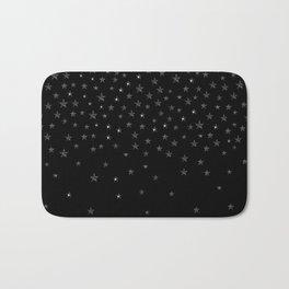 Black Stars Bath Mat