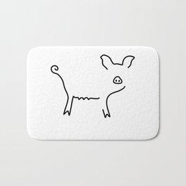 pig piglet make a mess Bath Mat