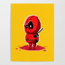 8 bit Merc with a Mouth Poster
