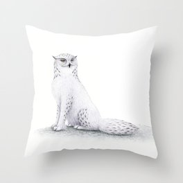 Snowy Fowl II Throw Pillow
