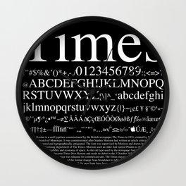 Times (White) Wall Clock