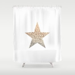 GOLD STAR Shower Curtain