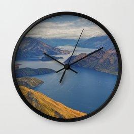 Roys Peak Lookout 2 Wall Clock