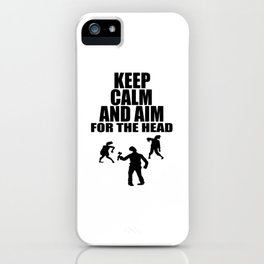head shot zombie funny sayings iPhone Case
