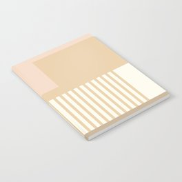 Sol Abstract Geometric Print in Tan Notebook