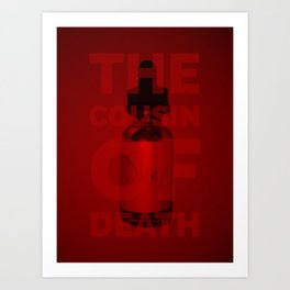 The Cousin of Death (Red) Art Print