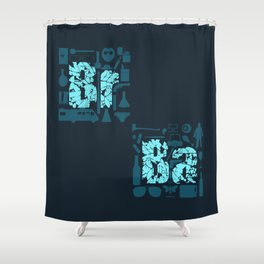 Br Ba Shower Curtain