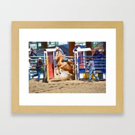 Breaking Out II - Rodeo Horse Framed Art Print