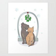 Christmas Cats Art Print