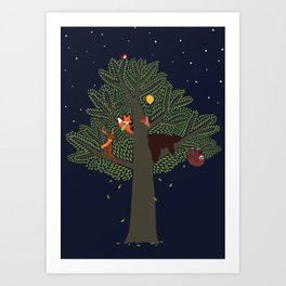 Forest Animals Friendship Day Art Print