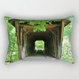 In And Out Of Bridge Rectangular Pillow