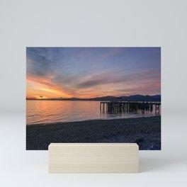 Sunset on the Beach Mini Art Print
