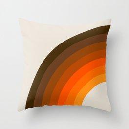 Retro Golden Rainbow - Left Side Throw Pillow
