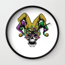 Mardi Gras Parade 2019 Beads Party Shirt Gift Idea Dark Light Wall Clock