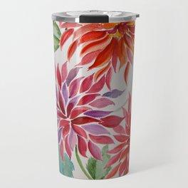 Brash, Blowsy and Beautiful Dahlias Travel Mug