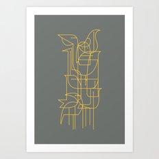 Geometric Birds Art Print