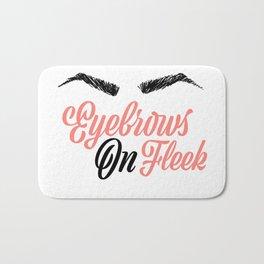 Eyebrows on Fleek Pink and Black Bath Mat