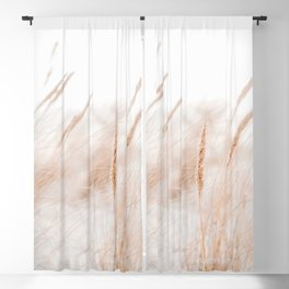 Beach Grass Pastel Colored Photo | Plantlife Photography | Warm Glow On Beach Grass Blackout Curtain