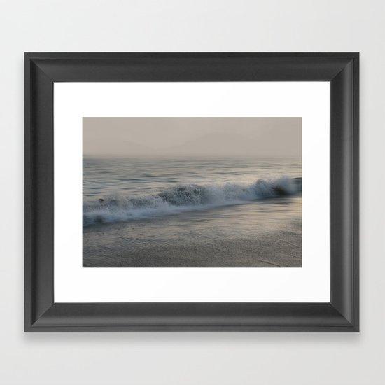 Misty Morning At Sea Framed Art Print