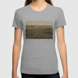 Bird's Eye View of Coldwater, Michigan (1868) T-shirt
