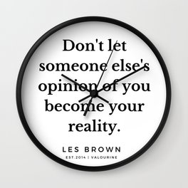 37  |  Les Brown  Quotes | 190824 Wall Clock