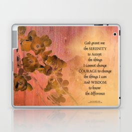 Serenity Prayer Quince and Fence One Laptop & iPad Skin