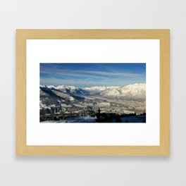 Innsbruck In Winter From Patscherkofel Mountain Framed Art Print