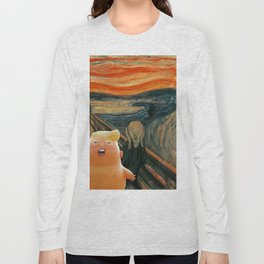 Trump Baby & The Scream Long Sleeve T-shirt