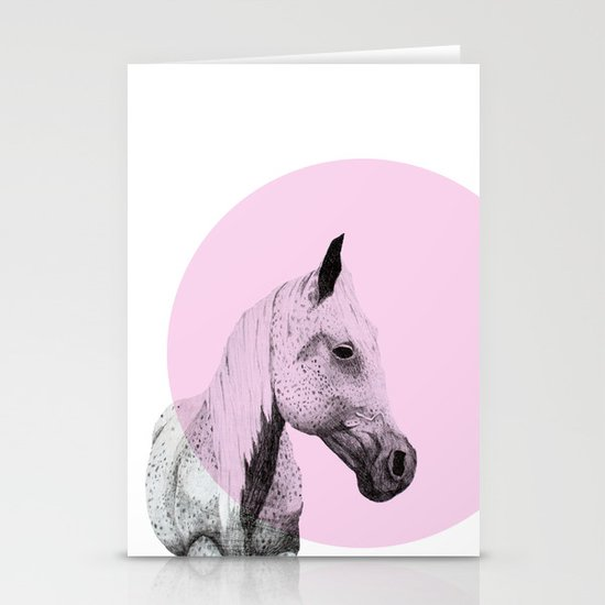 speckled horse Stationery Cards