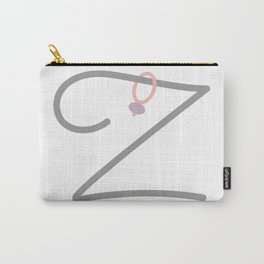 Z Initial with Stitch Marker Carry-All Pouch