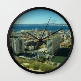 Marseille Bay Wall Clock