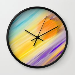 """""""Catch the Sun #1 – Sequel #2"""" Oil Painting Wall Clock"""