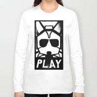 starfox Long Sleeve T-shirts featuring Fox McCloud Has A Posse by Shy Guy Street Art