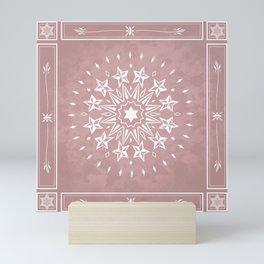 Mauve Magic Mandala Mini Art Print