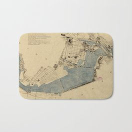 Vintage Map of The Charles River (1894) Bath Mat