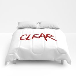 .: CLEAR :. Comforters