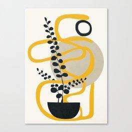 Abstract Yellow Line III Canvas Print