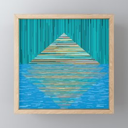 Mountain Lake Abstract Framed Mini Art Print
