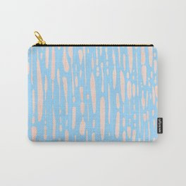 Sweet Life Ice Melt Stripes Peach Coral Pink + Blue Raspberry Carry-All Pouch