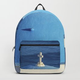 Santorini, Greece Backpack