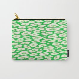 green cheetah animal print Carry-All Pouch