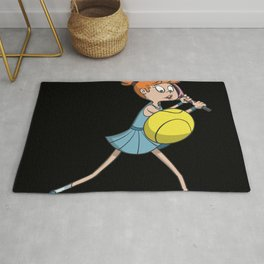 Tennis backhand with swing Rug