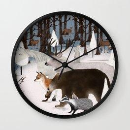 woodland nature Wall Clock