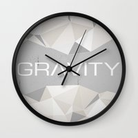 gravity Wall Clocks featuring Gravity by eARTh