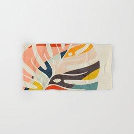 shape leave modern mid century Hand & Bath Towel