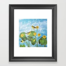 One Morning in the Water Lily Pond Framed Art Print